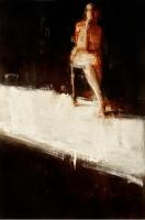 Белая полоса. 2012. Картина в частной коллекции