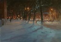 Зимний город. В частной коллекции. 2019