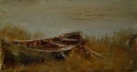 Пейзаж со старой лодкой. 2013 Картина в  частной коллекции