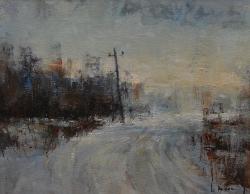 Телеграфный столб. 2011. Картина в частной коллекции