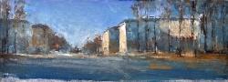 Площадь Егорова. Этюд. 2012. Картина в частной коллекции