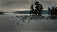 Зимний пейзаж с соснами. 2013. Картина в частной коллекции